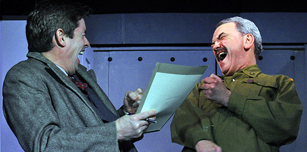 Rich Toynton and Paul Campion in BLT's November 2014 production of 'Collaborators', directed by Mike Savill.