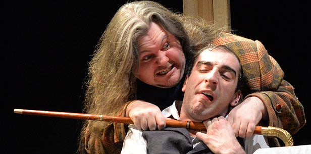 Tom Dignum and Kyle Cluett in BLT's February 2015 production of The Elephant Man, directed by Tony Jenner.